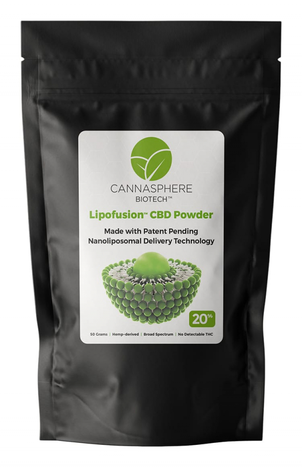 20% Nanoliposomal CBD Powder – Hemp-derived – Broad Spectrum